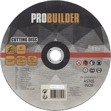 Probuilder skæreskive, jern, 230 mm