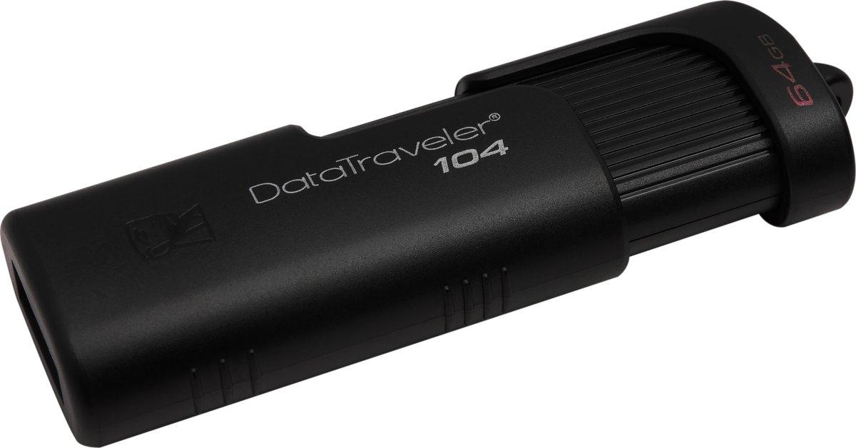 Kingston DataTraveler 104 USB-nøgle, 64GB