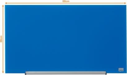 """Nobo Diamond glastavle i blå, 31"""" - 38,1 x 67,7 cm"""