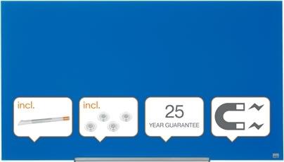 """Nobo Diamond glastavle i blå, 57"""" - 71,1x126 cm"""