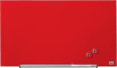 "Nobo Diamond glastavle i rød, 31"" - 38,1 x 67,7 cm"
