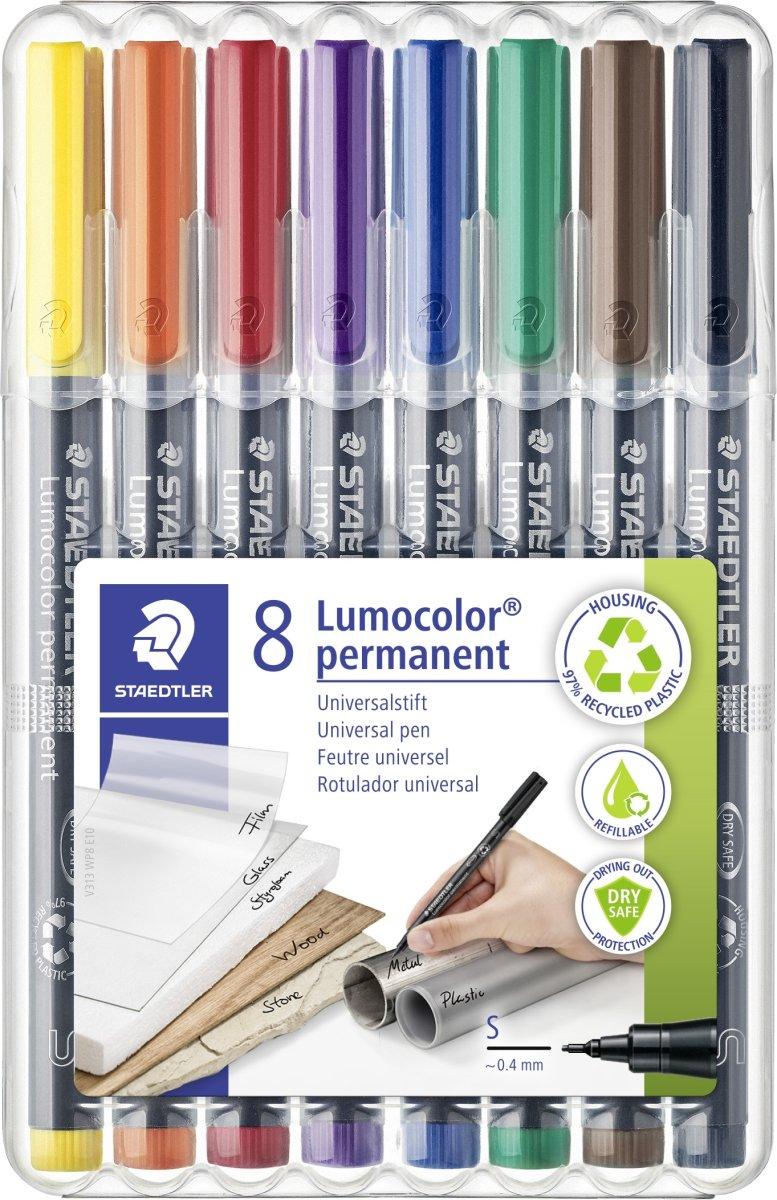 Staedtler Lumocolor 313 Marker S, perm, 8 stk.
