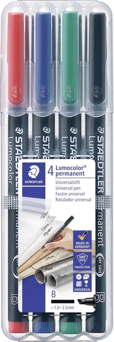 Staedtler Lumocolor 314 Marker B, perm, 4 stk.