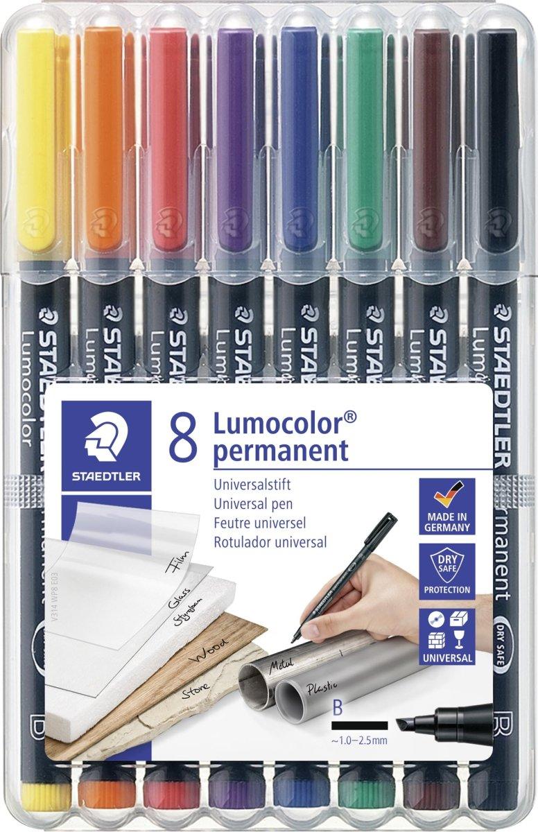 Staedtler Lumocolor 314 Marker B, perm, 8 stk.