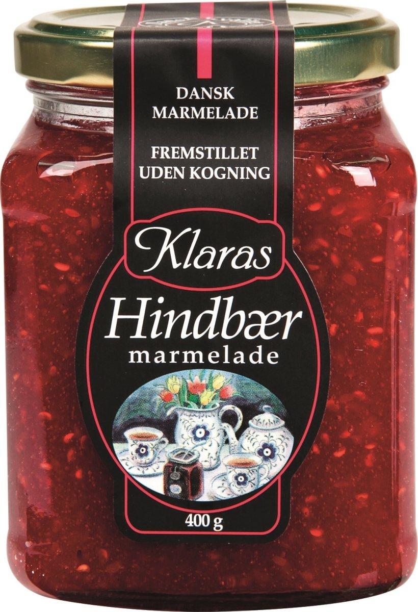 Klaras Hindbær Marmelade, 400 g
