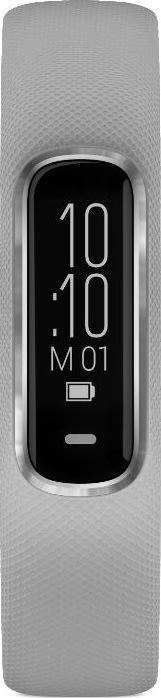 Garmin vívosmart® 4, sølvfarvet med grå rem