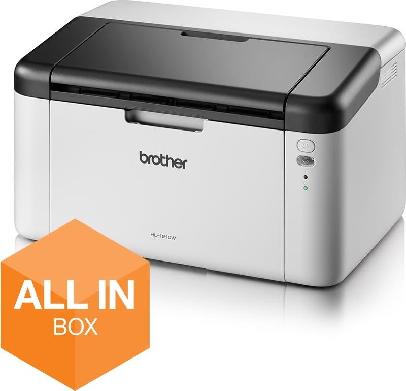 Brother HL-1210WVBPZW1 trådløs s/h-laserprinter