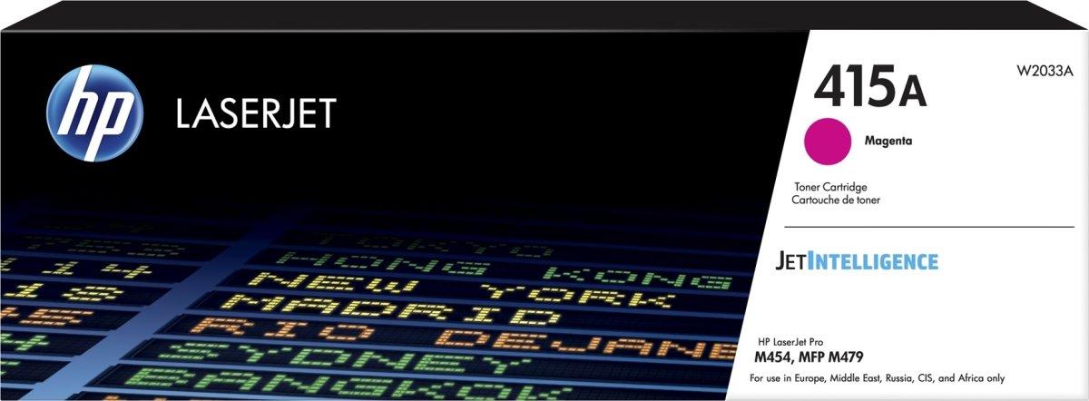 HP Color LaserJet 415A lasertoner, magenta, 2.100s