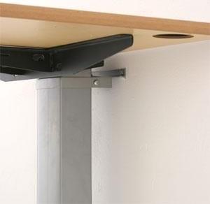 Compact væghængt bord alu/ bøg melamin 120x80 cm