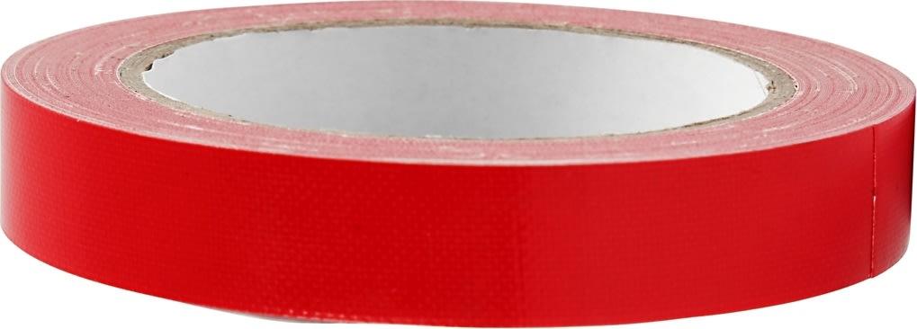 Lærredstape, 19 mm x 25 m, rød