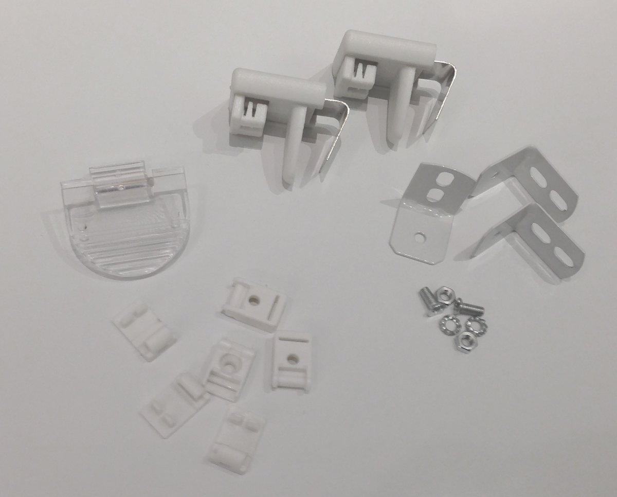 Debel Kitsæt t/ Flex plisségardin, Hvid