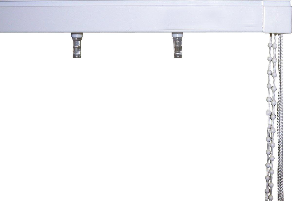 Debel Lamelskinne med tilbehør, 290 cm, Hvid