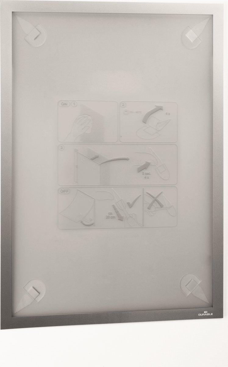Durable Wallpaper Inforamme A3, sølv