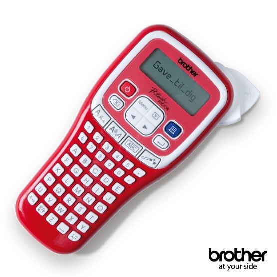 Gave: Brother H100 labelmaskine rød