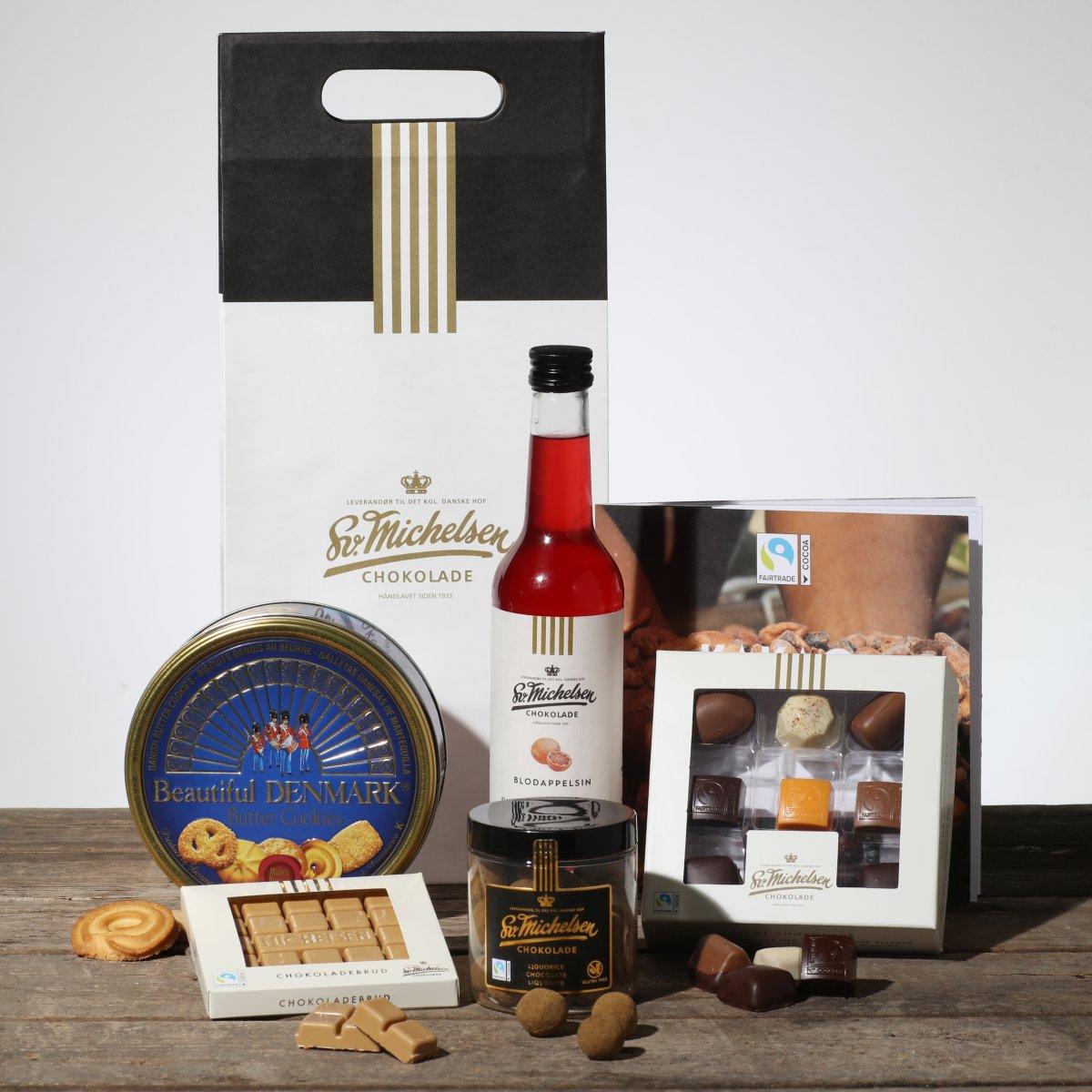 Sv. Michelsen gavepose med chokolade/delikatesser