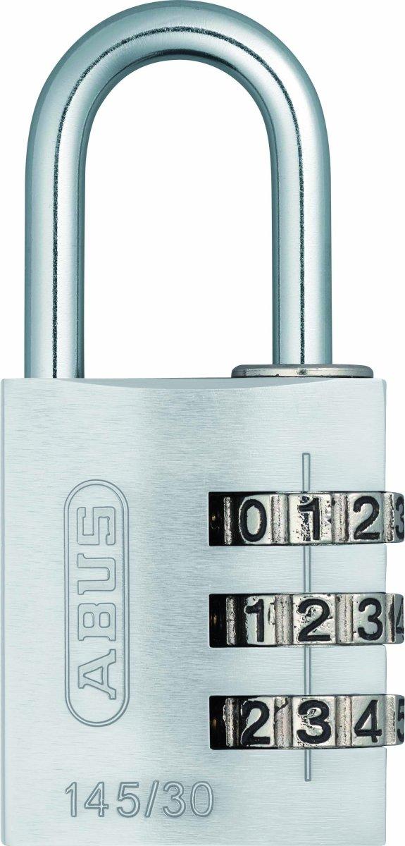 ABUS kodelås 145/30, Sølv
