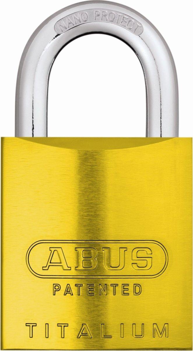 ABUS hængelås 83AL/45 S-DK, Gul