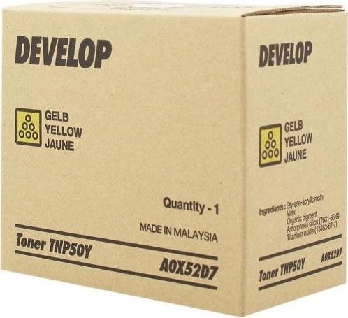 Develop TNP-50Y +3100p lasertoner, gul, 5.000s
