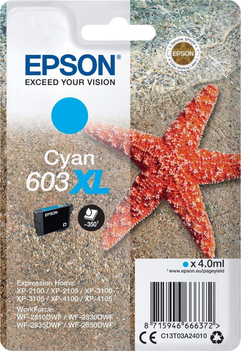 Epson 603XL blækpatron, cyan, blister, 4ml
