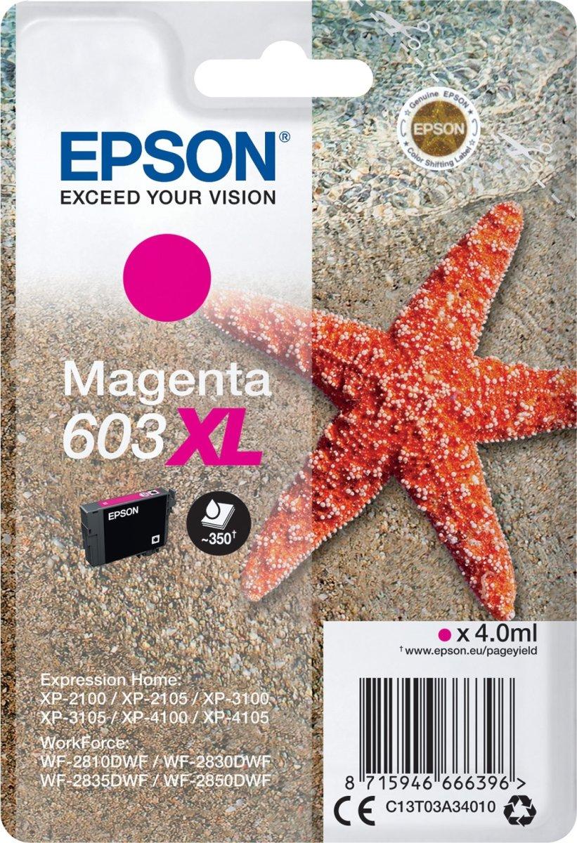 Epson 603XL blækpatron, magenta, blister, 4ml