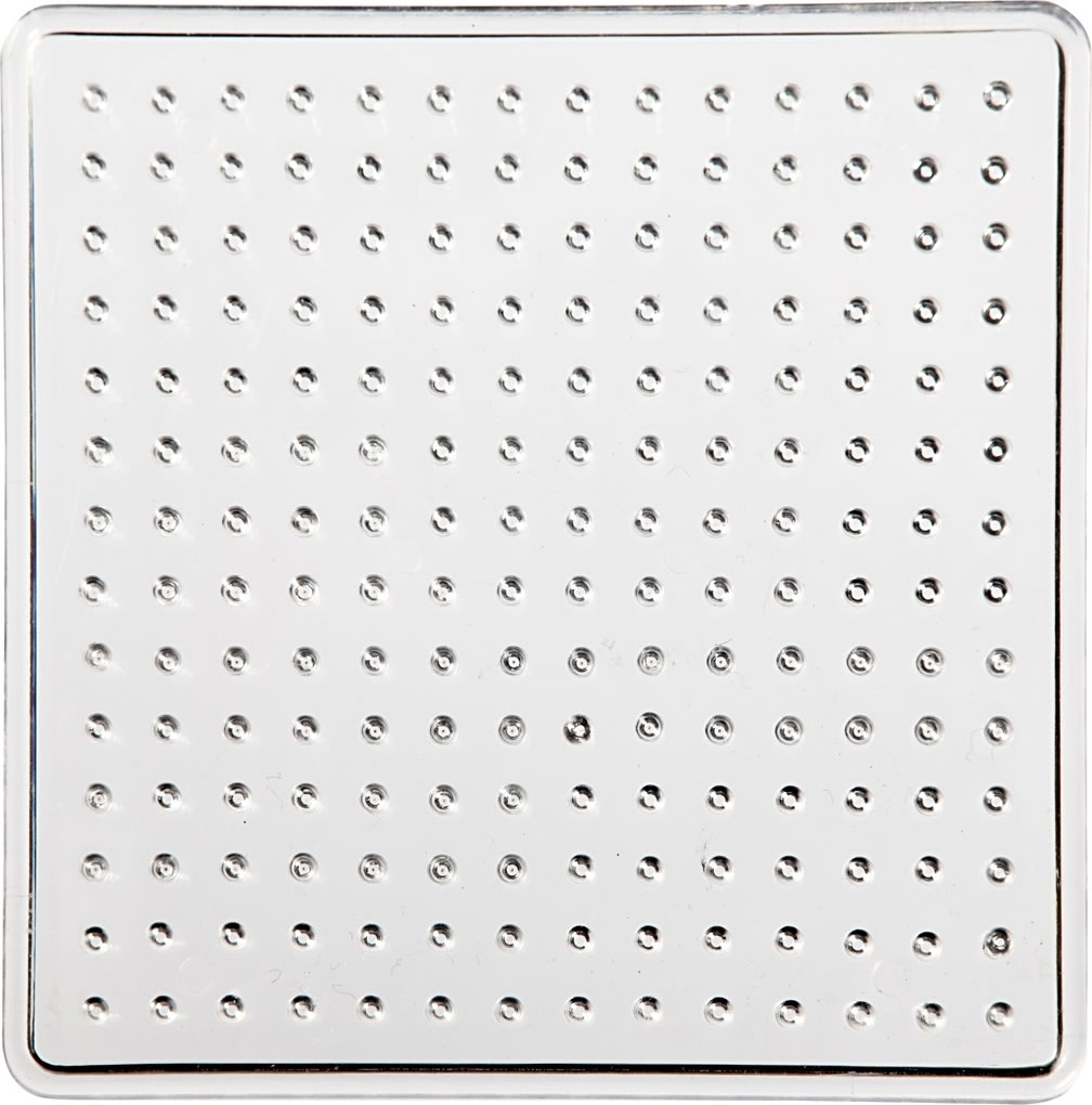 Perleplade, 7x7 cm, lille kvadrat, 10 stk