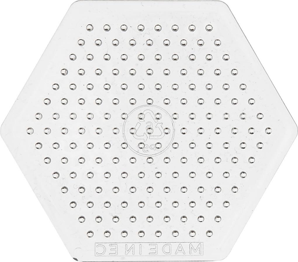 Perleplade, 7,5x7,5 cm, lille sekskant