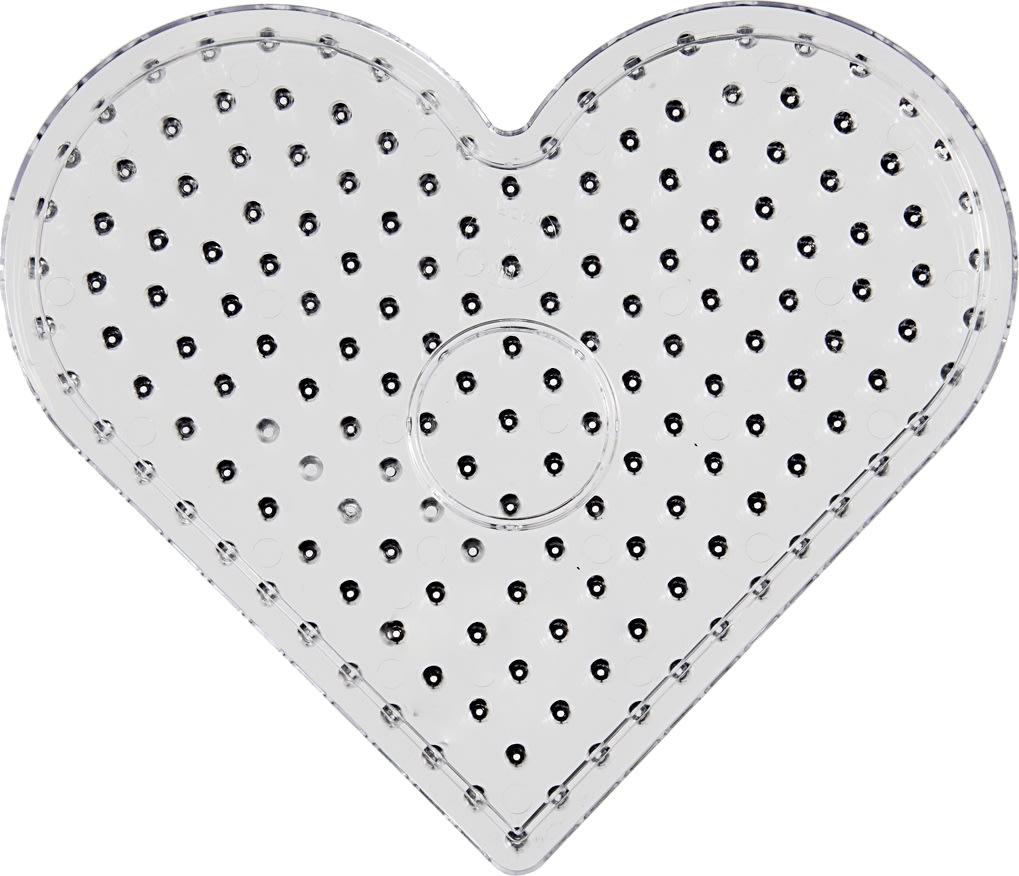 Jumbo Perleplade, 17 cm, hjerte