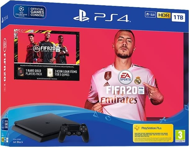 Sony PlayStation 4 Slim konsol inkl. FIFA 20