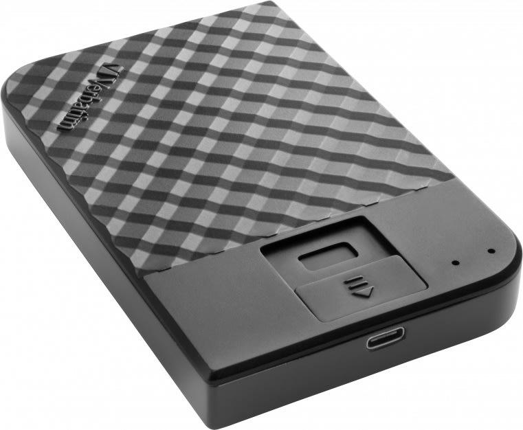 Verbatim USB 3.1 ekstern harddisk, 2 TB, sort