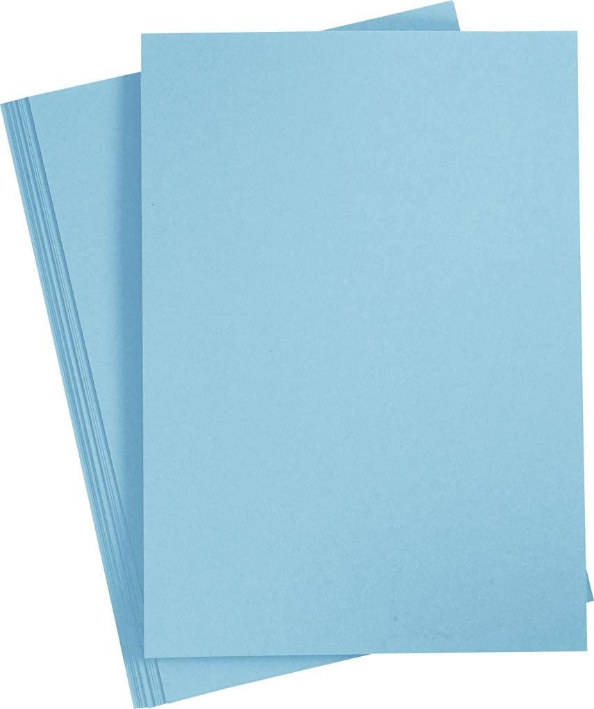Happy Moments Karton, A4, 220g, 10 ark, lyseblå