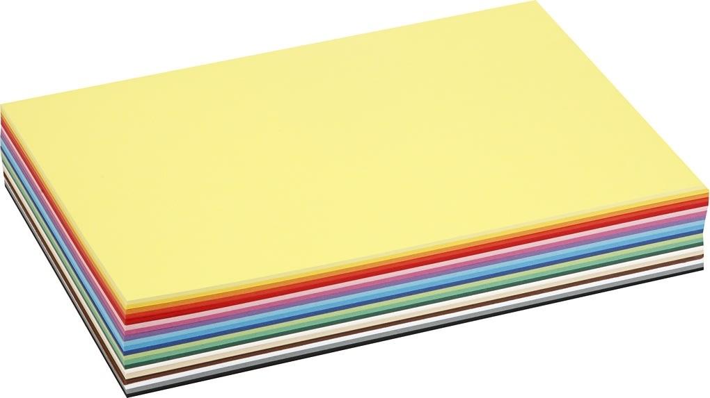 Colortime Karton, A4, 180g, 300 ark, ass. farver