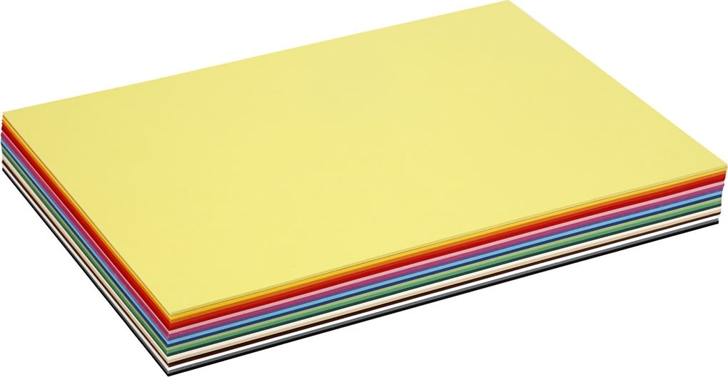 Colortime Karton, A3, 180g, 300 ark, ass. farver