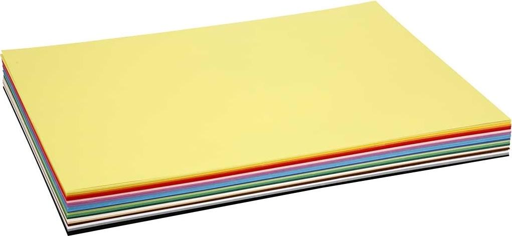 Colortime Karton, A2, 180g, 300 ark, ass. farver