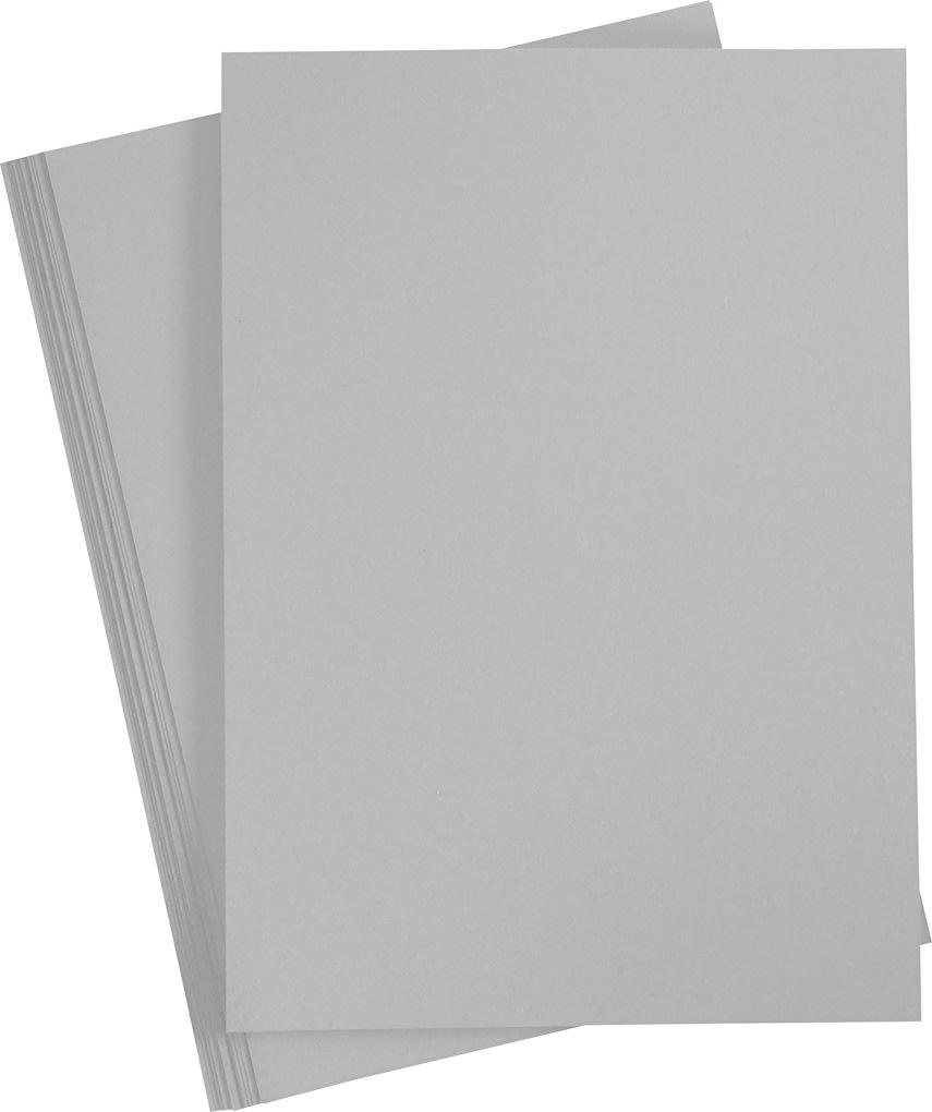 Paper Concept Karton, A4, 180g, 20 ark, stålgrå