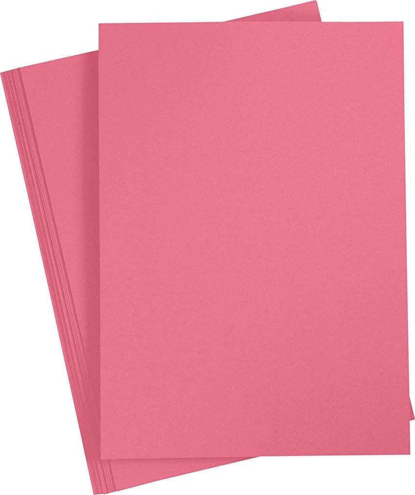 Paper Concept Karton, A4, 180g, 20 ark, gl. rosa