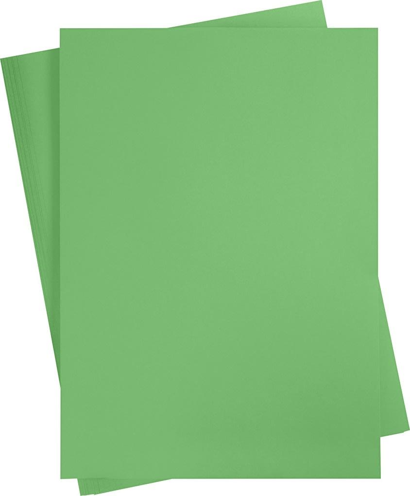 Karton, A2, 180g, 10 ark, græsgrøn