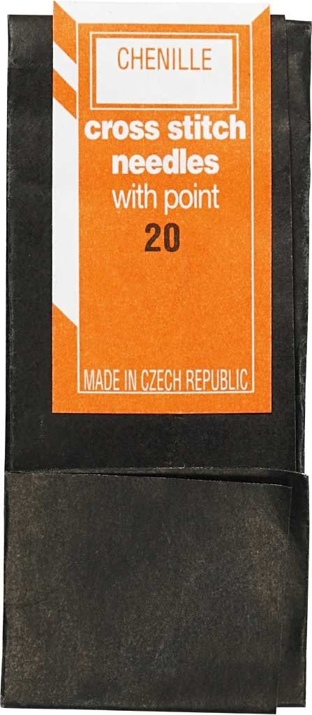 Broderinål u/spids, nr. 20, 43 mm, 25 stk