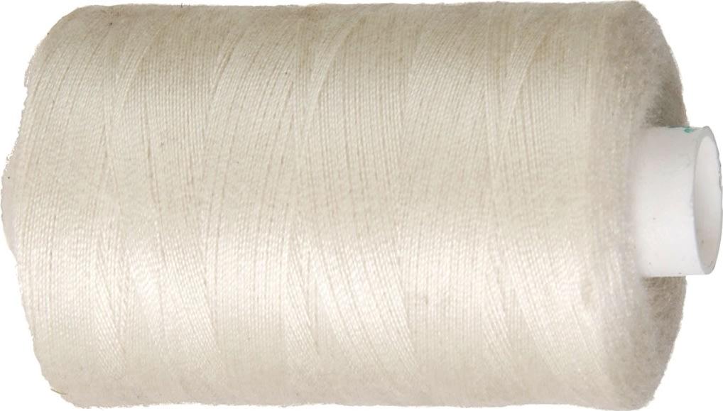 Sytråd, polyester, 1000 m, råhvid