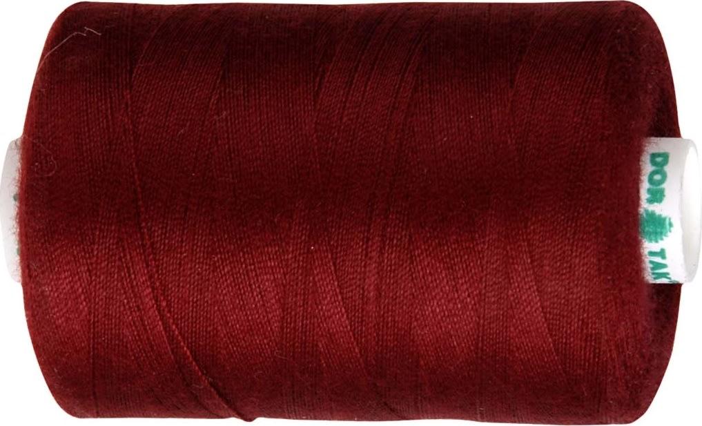 Sytråd, polyester, 1000 m, vinrød