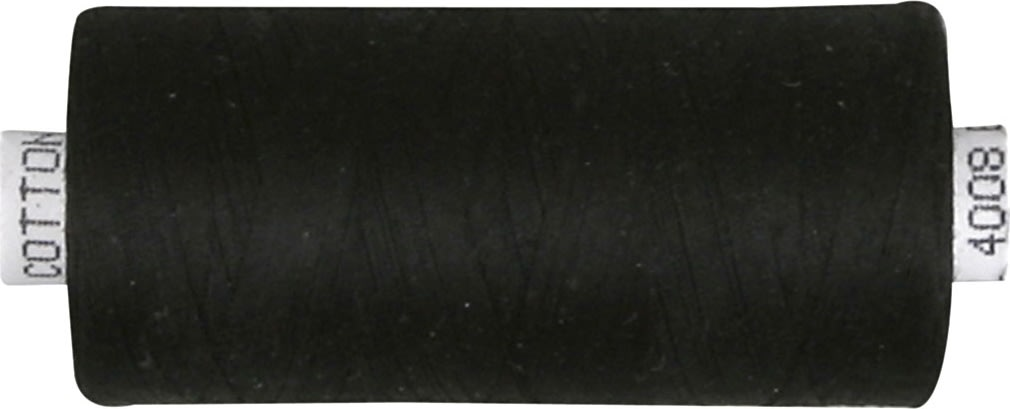 Sytråd, bomuld, 1000 m, sort