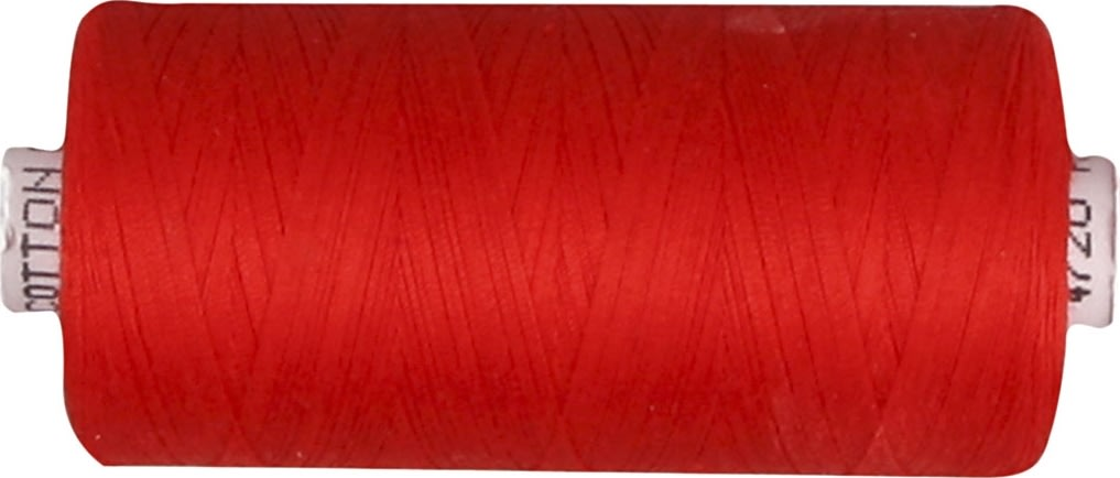 Sytråd, bomuld, 1000 m, rød