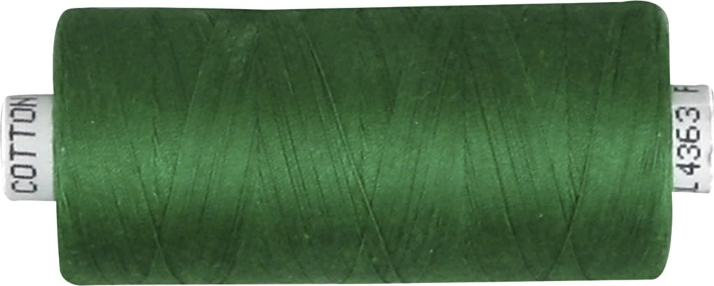 Sytråd, bomuld, 1000 m, grøn