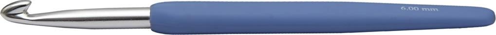 Hæklenål, nr. 6, L: 13,3 cm, blå