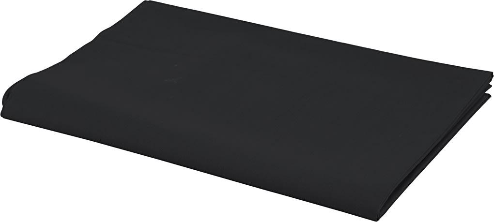 Bomuldsstof, 140g/m2, 1,45x10 m, sort