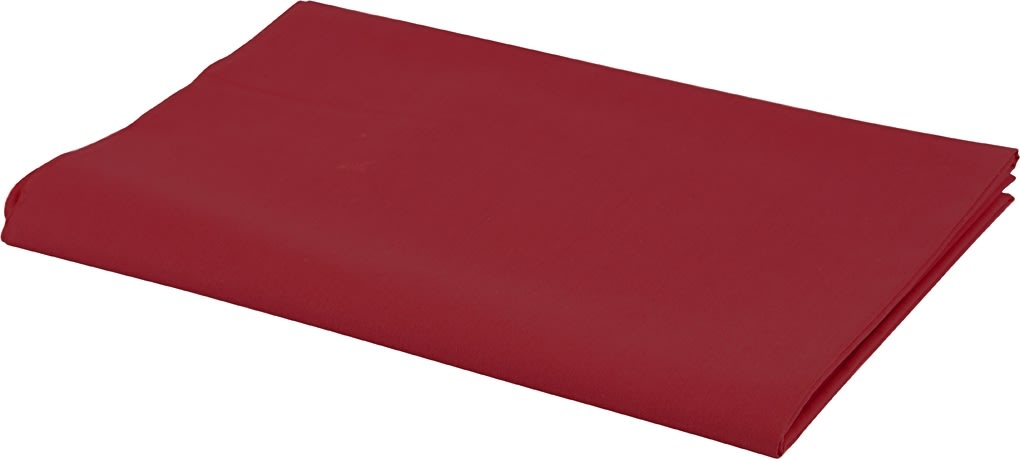 Bomuldsstof, 140g/m2, 1,45x10 m, rød