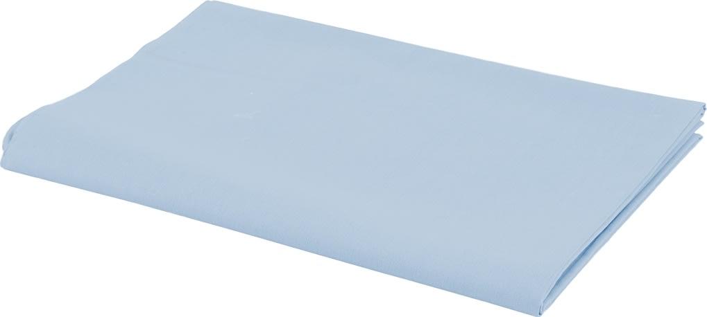 Bomuldsstof, 140g/m2, 1,45x10 m, lys blå