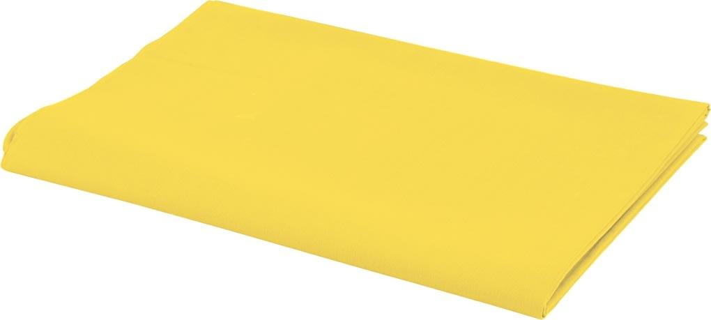 Bomuldsstof, 140g/m2, 1,45x10 m, gul