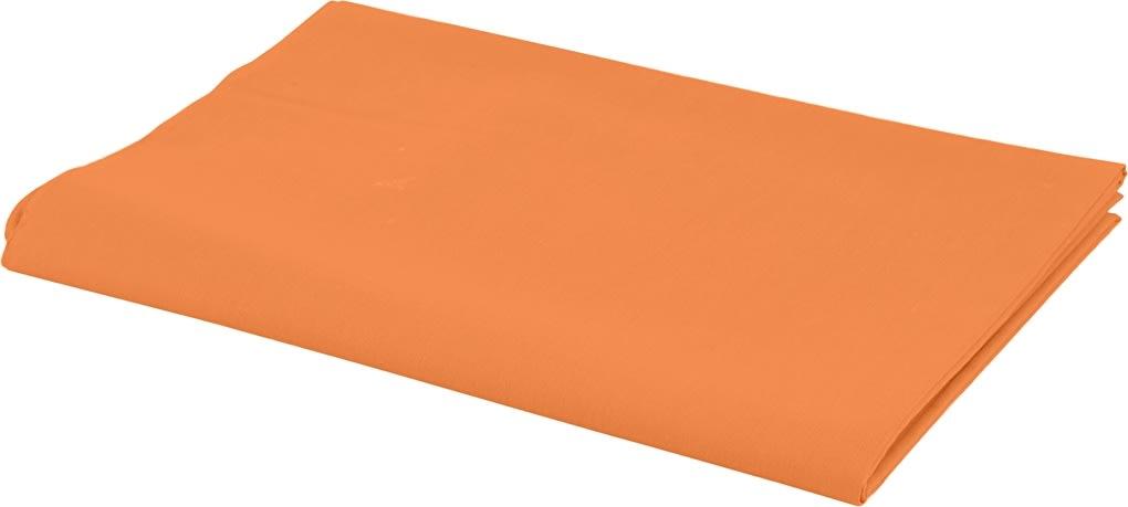 Bomuldsstof, 140g/m2, 1,45x10 m, orange