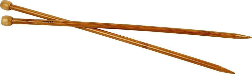 Strikkepinde, nr. 8, L: 35 cm, bambus