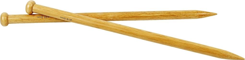 Strikkepinde, nr. 15, L: 35 cm, bambus